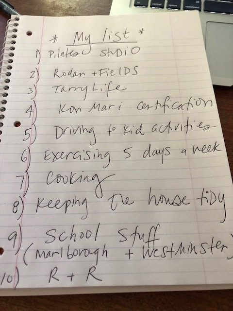 My list of things I want to do.